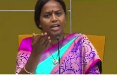 Panchumarthi Anuradha questions YSRCP leaders