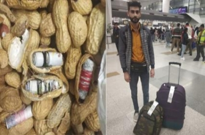 Foreign currency hidden inside groundnut caught by Airport Personne