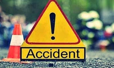 A Car fallen from Bharath Nagar Bridge