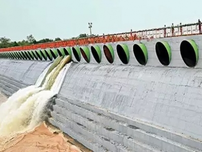 Water Released from Medigadda to Annaram