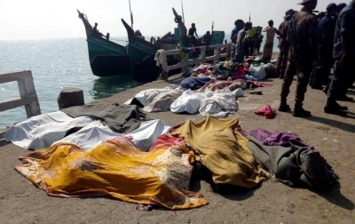 Boat Sinks in Bay of Bengal and Fifiteen Rohingya refugees drown