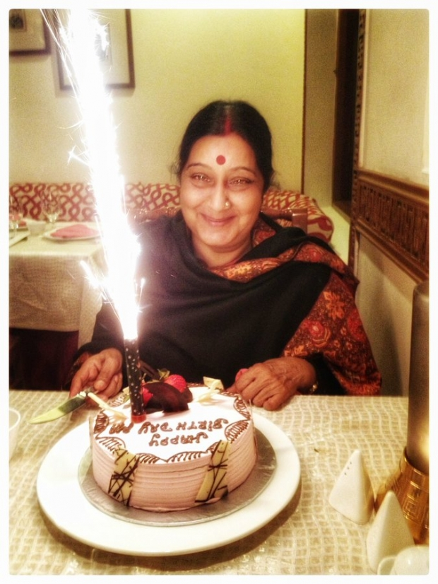 On Sushma Swarajs birthday her husbands warm message for late leader