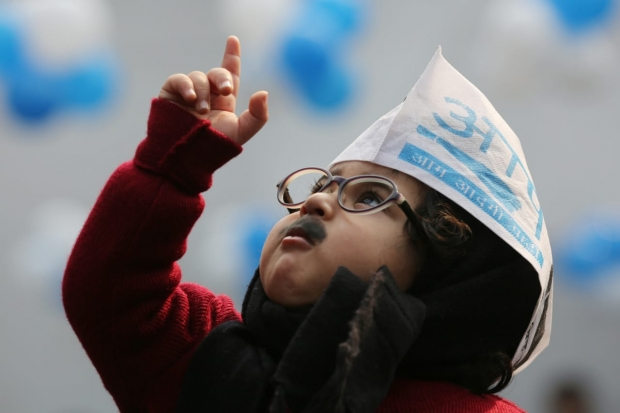 app Invites baby mufflerman for kejriwal oath ceremony