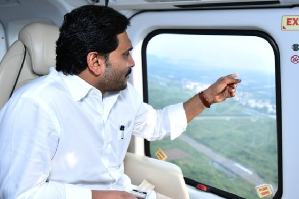 CM Jagan conducts aerial survey in flood hit areas