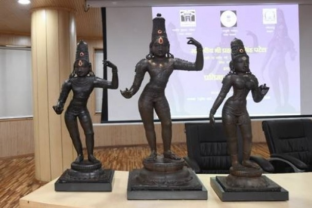 decades later Ancient statures of lord sitarama laxman arrived India