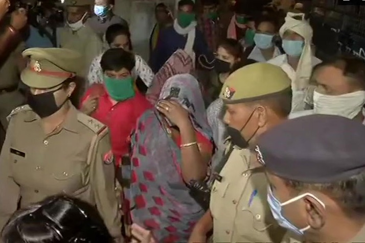 Hathras victims family left for allahabad high court amid tight security