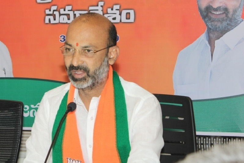 TRS complains on Bandi Sanjay for his comments on KCR