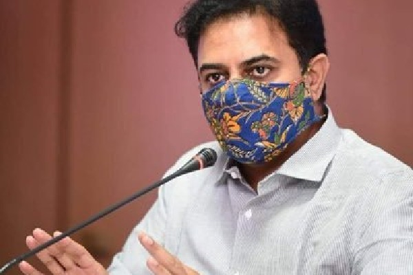 ktr slams bjp