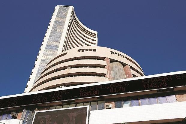 Sensex ends 377 points high