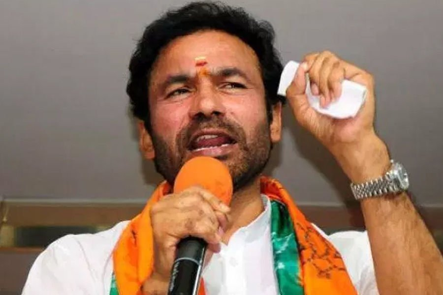 Kishan Reddy talks to media ahead of GHMC Elections Polling