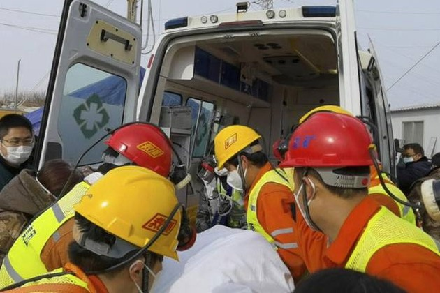 11 workers rescued from China gold mine