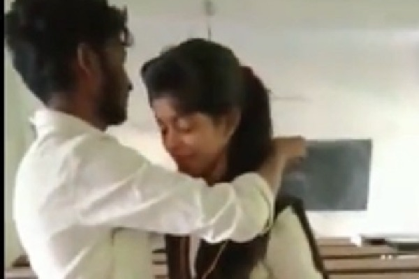 Inter Students Marriage in Classroom Video goes viral