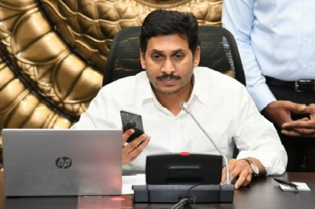 CM Jagan talks to SP Charan who mourns with his father SP Balu demise