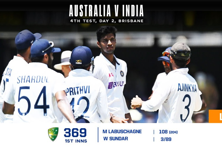 australia all out for 369 runs in first innings