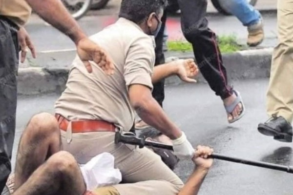 Kerala Police Recreates George Floyd Scene On Protester