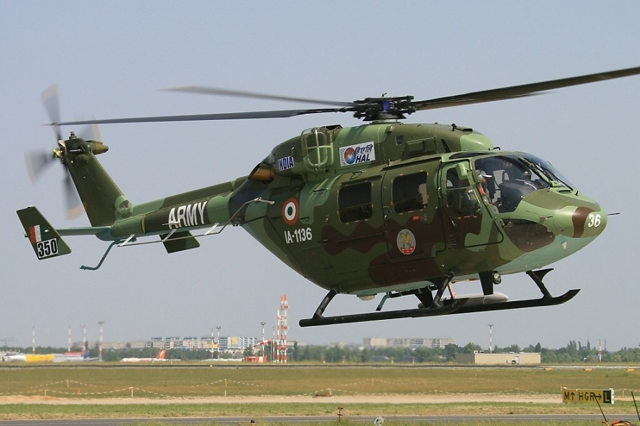 Army Chopper Crash Land near Khathuva