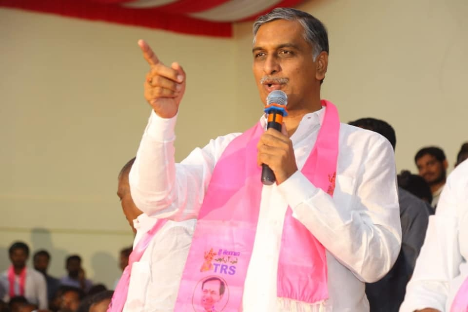 Harish Rao campaigns in Dubbaka