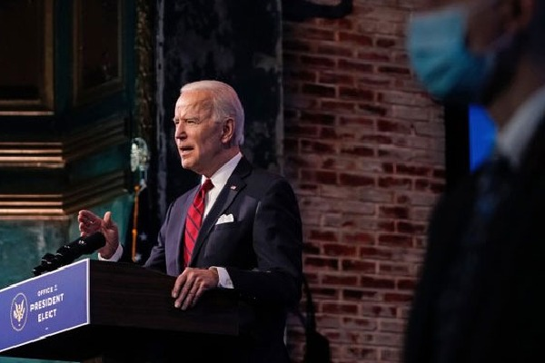 biden attracted americans in his first speach