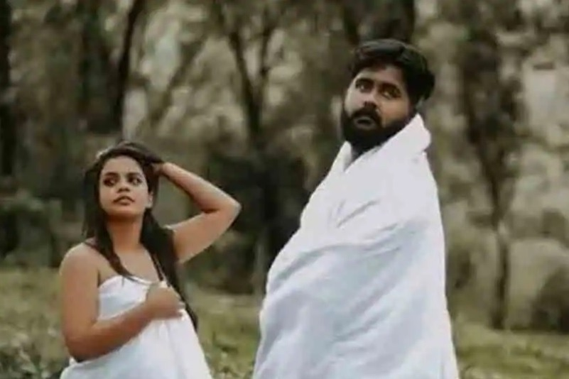 Heavy Trooling on Kerala Couple Intimate Wedding Photo Shoot