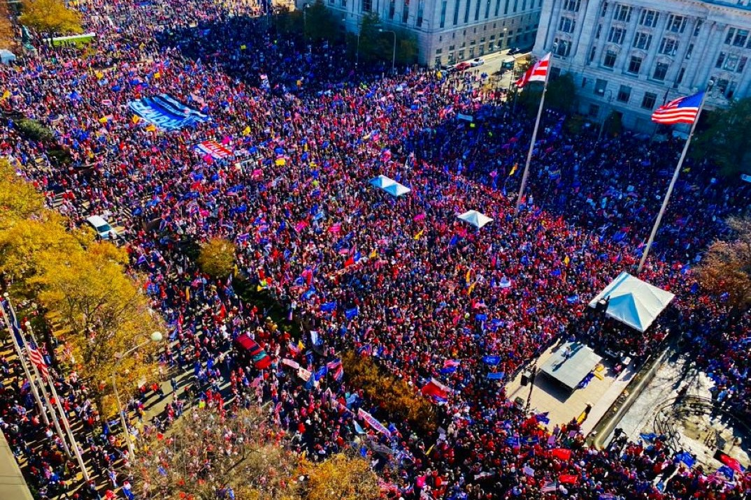 Washington DC rally brings together Trump voters