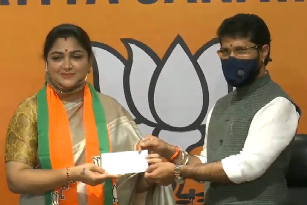 Actress turned politician Khushboo joins BJP