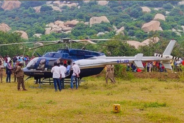 Helicopter laned in fields at Andhra and Tamilnadu border