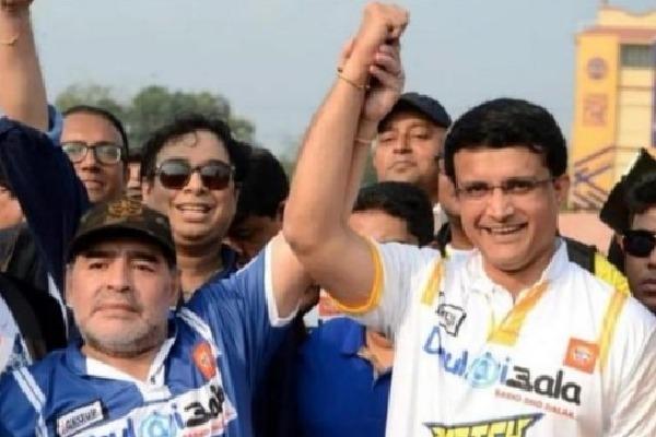 Gangoly and Sachin RIP on Maradona