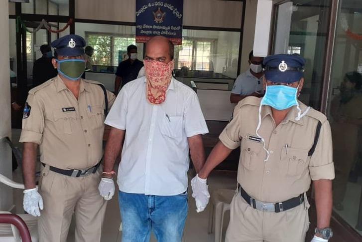 Police arrests Nellore tourism official and DGP appreciates SP