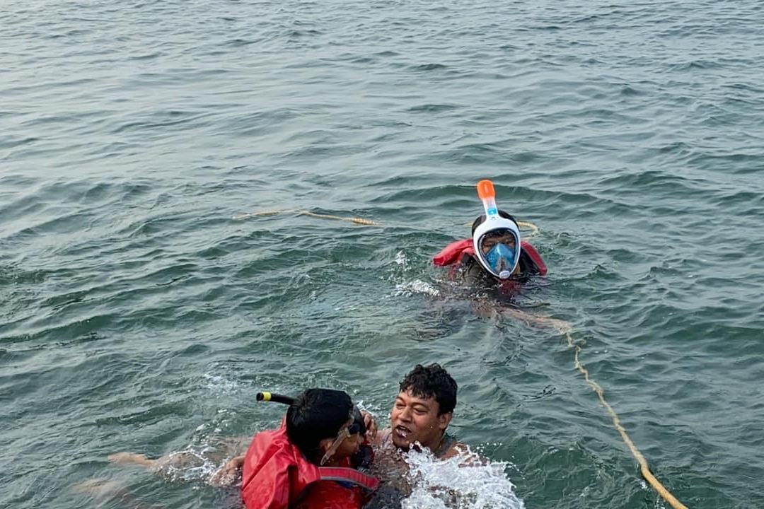 AP Minister Seediri Appalaraju fishing with family members and friends