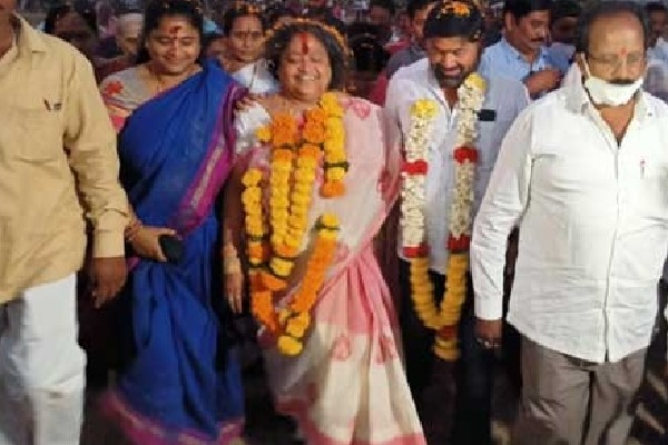 AP Assembly speaker Tammineni wife wins in Panchayat elections