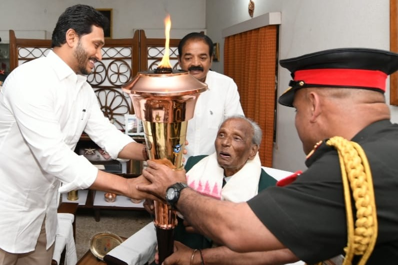 CM Jagan felicitates retired general Venugopal in Tirupathi