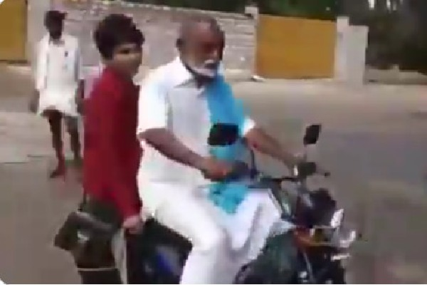 Raghuveera came to polling booth on a moped