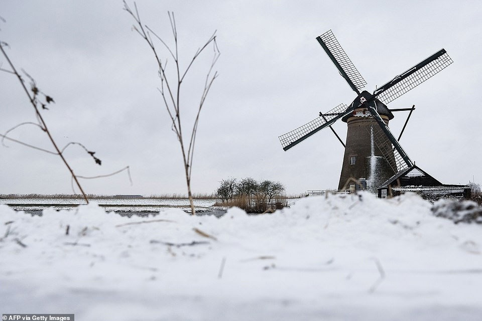 Dutch hit by first snowstorm in a decade