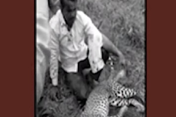 Karnataka man killed leopard to save his wife and daughter