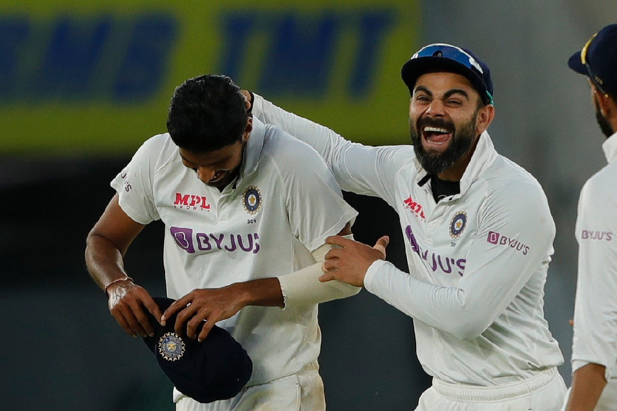Team India wins pink ball test against England