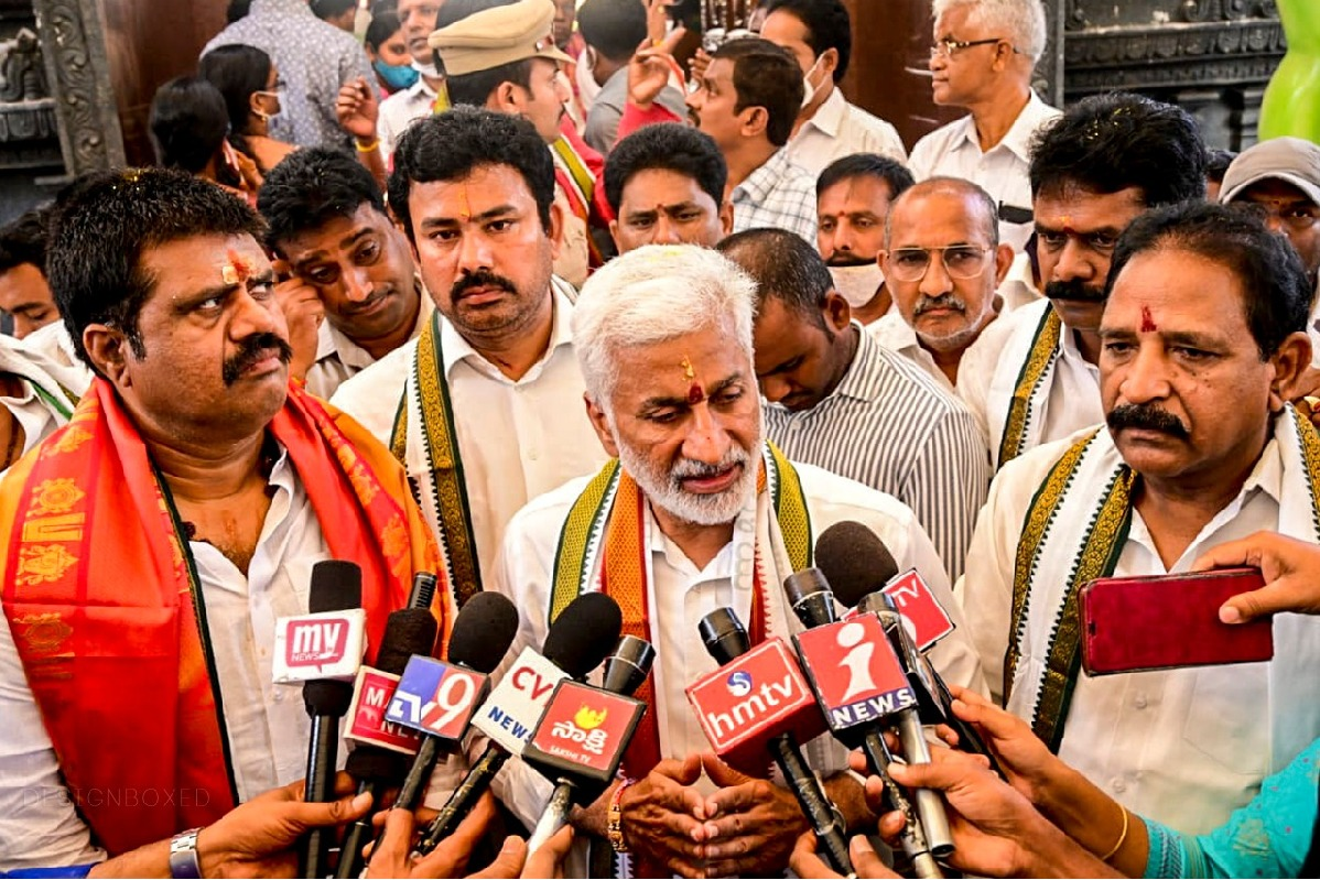 Vijayasai Reddy campaigns in Vizag for GVMC elections
