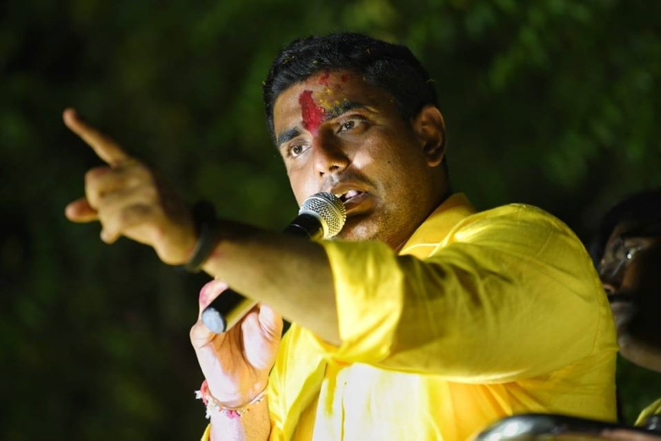 Nara Lokesh fires in YS Jagan after TDP Chief Chandrababu detained in Renigunta airport