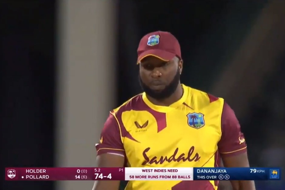 Kieron Pollard smashes six sixes in an over