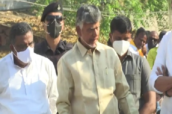 Chandrababu at Kunrool road show