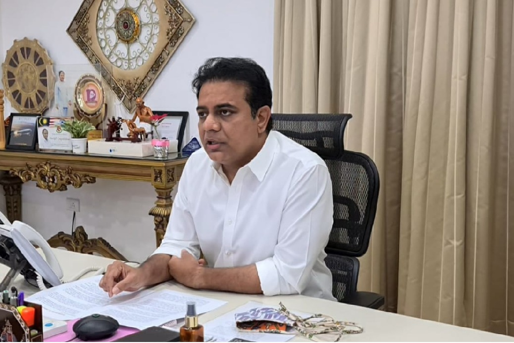 KTR fires on Union Government over a RTI query