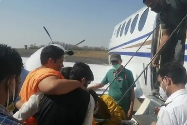 BJP MP Pragya Tahkur airlifted to Mumbai