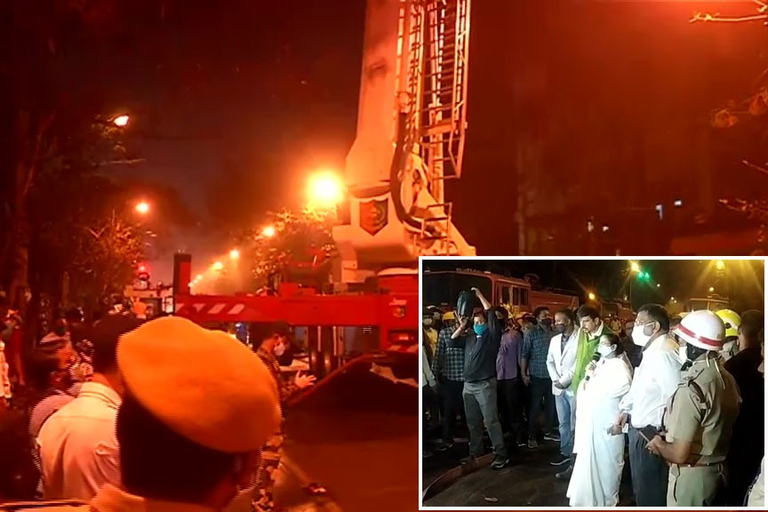 9 die dousing Railways building fire in kolkata