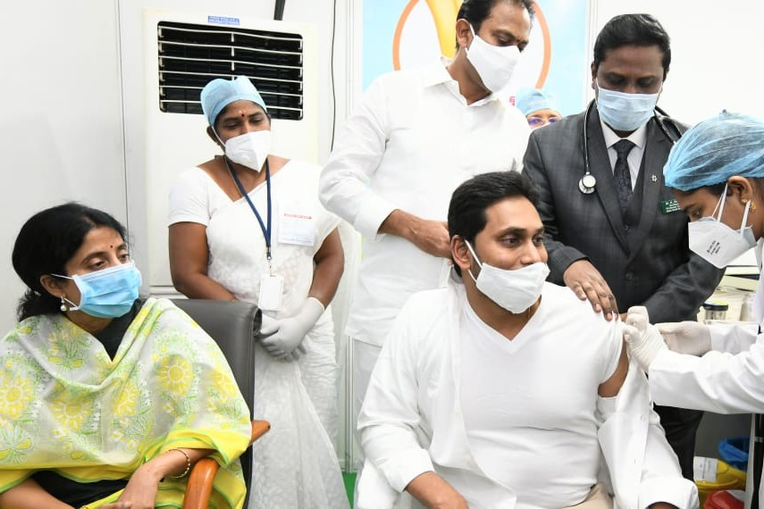 CM Jagan calls for Covid free state after taken corona vaccine first dose