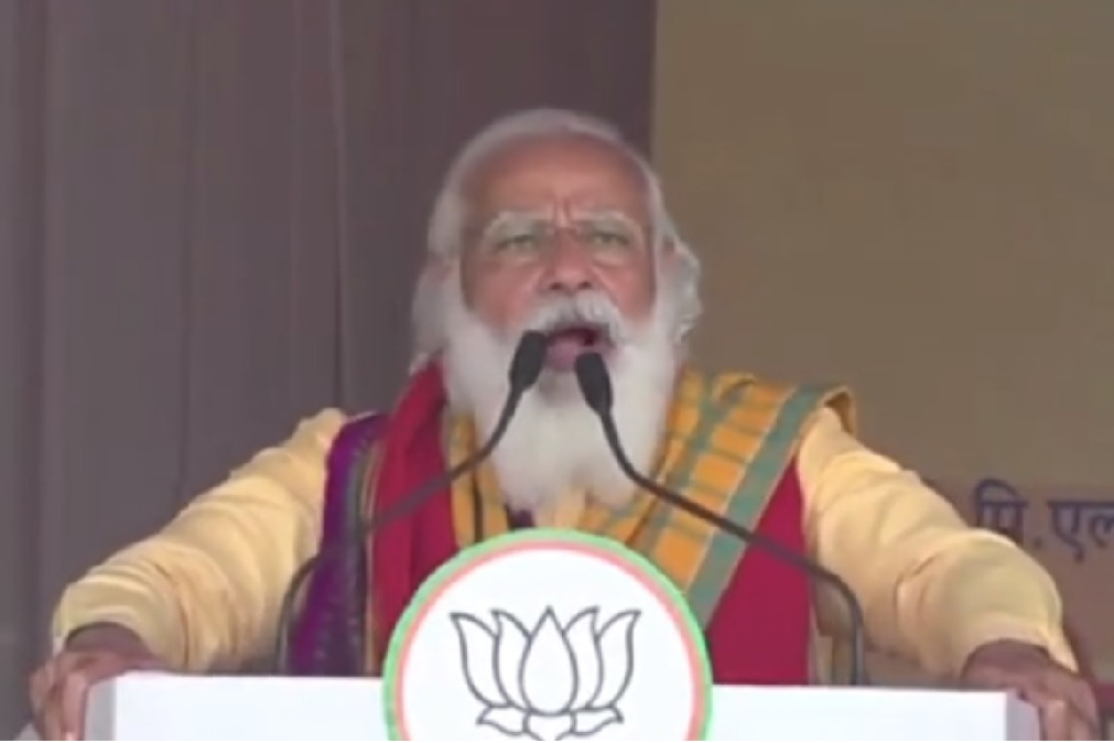 PM Modi halts speech directs PMO medical team to check dehydrated BJP worker in Assam
