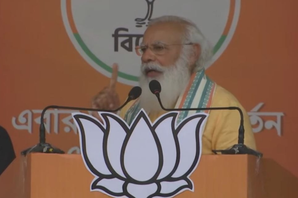 Mamata is behaving like a cricketer questioning Umpires Decision says modi