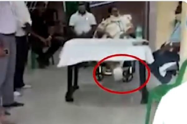 Mamata seen shaking injured leg