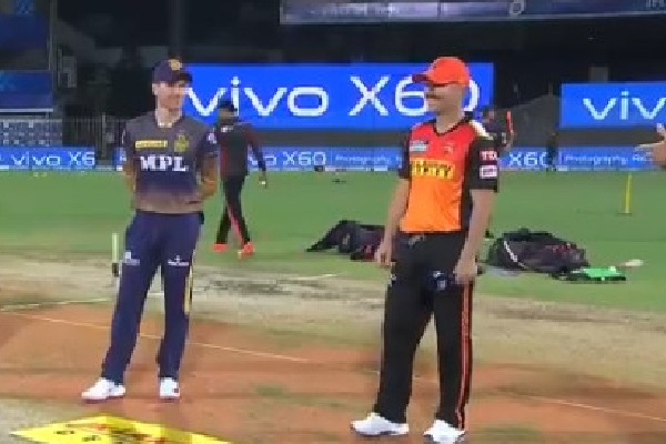 Sunrisers won the toss against Kolkata Knight Riders