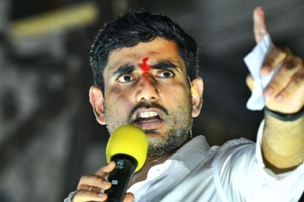 Nobody can scare chandrababunaidu by throwing stones says nara lokesh
