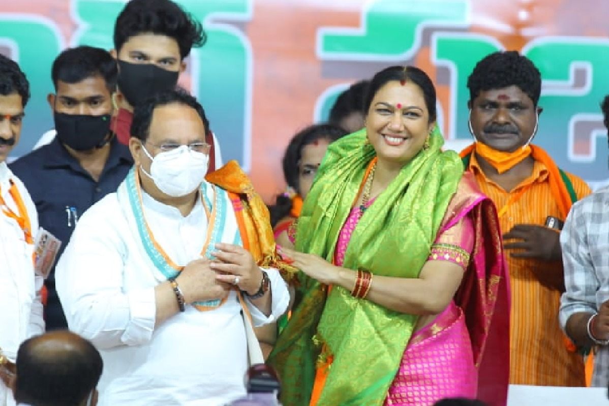 Hilarious speech of actress Hema at Nellore BJP rally
