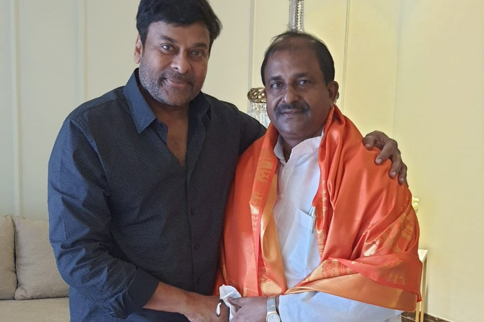 AP BJP Chief Somu Veerraju met Chiranjeevi in Hyderabad